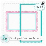 Scalloped Frames Action by: Delicious Scraps