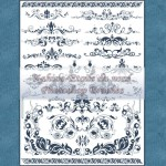 Ornamental Brushes Set 4 by: Etoile-du-nord
