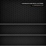 8 Dark Metal Patterns by: Premium Pixels
