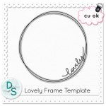 CU Lovely Frame Template
