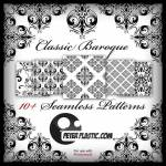 Classic Baroque Free Seamless Pattern