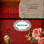 Free Vintage Digital Scrapbook  Pack