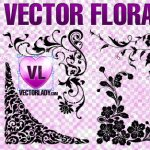 Floral Corners Ornaments Vectors