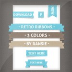 Retro Ribbons and Buttons