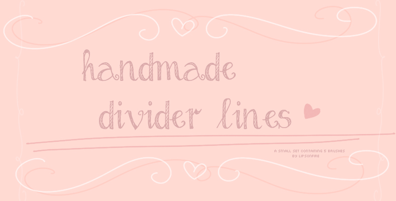 hand made divider lines photoshop brushes