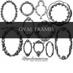Vintage Oval Frames Brushes
