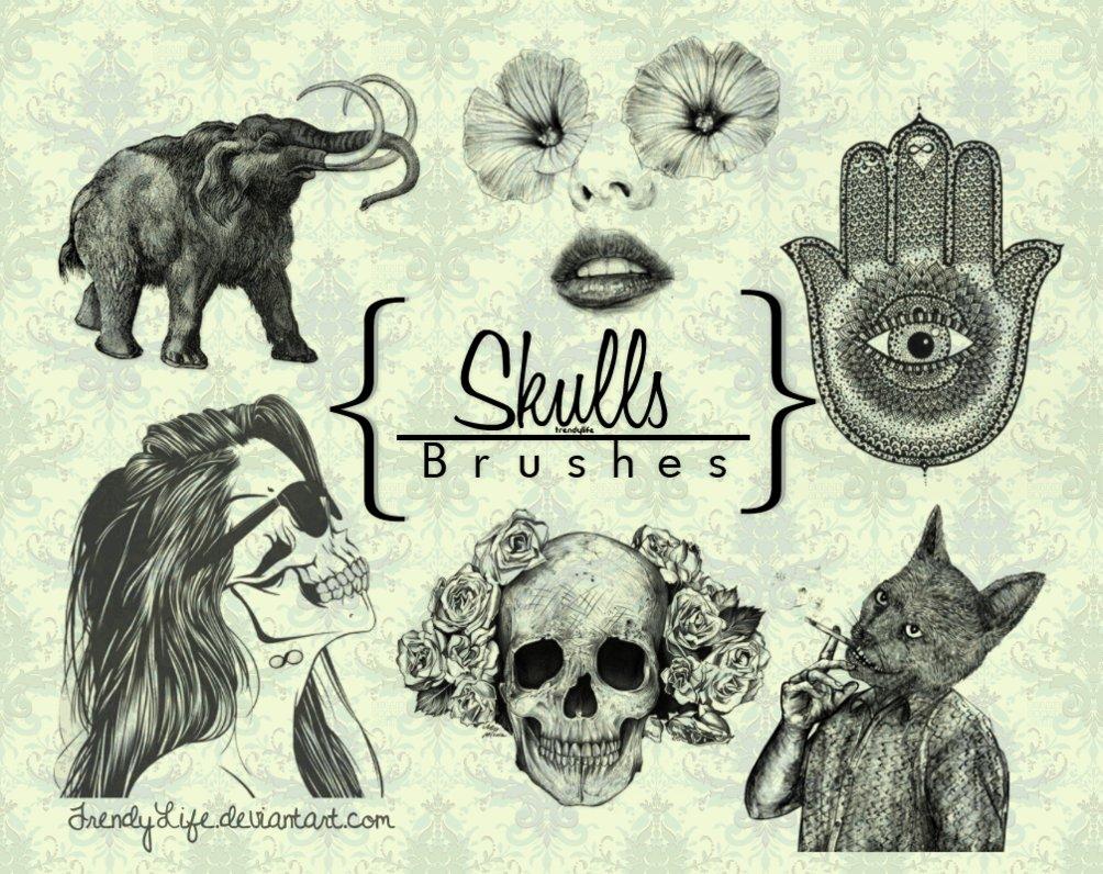 brushes_skull_by_trendylife-d61v838