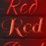 Red Layer Styles for Text Effects