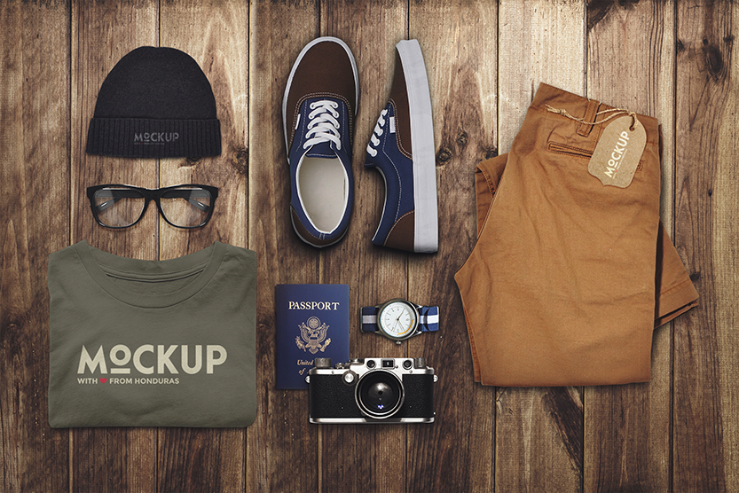 Travel Mockup Photoshop PSD