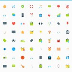 Professional Set of 80 Tiny Vector Icons