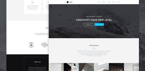 One Page Portfolio Web Template PSD