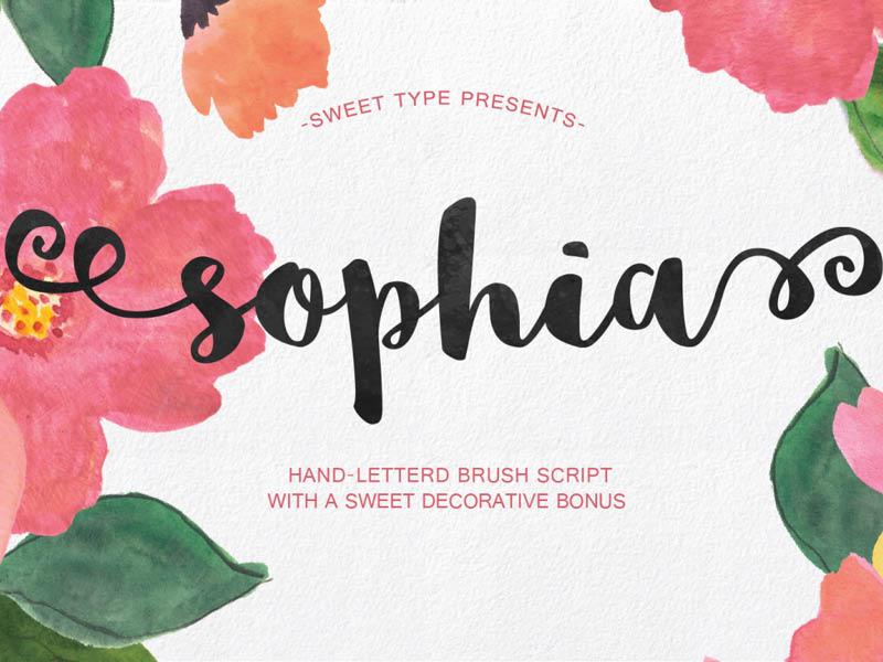 Sophia Brush Font