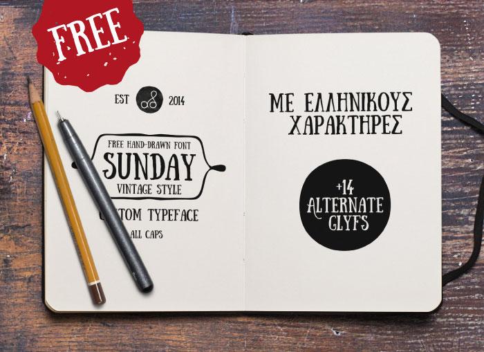 Hand Drawn Font - Sunday