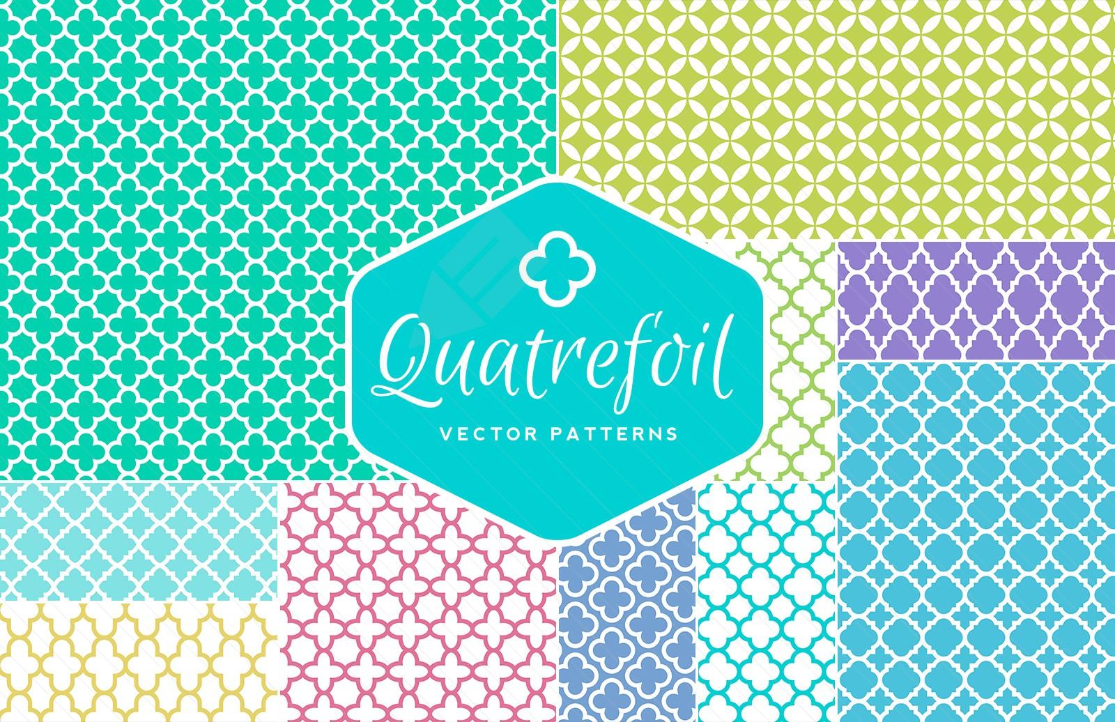 Commercial Use Quatrefoil Vector Patterns