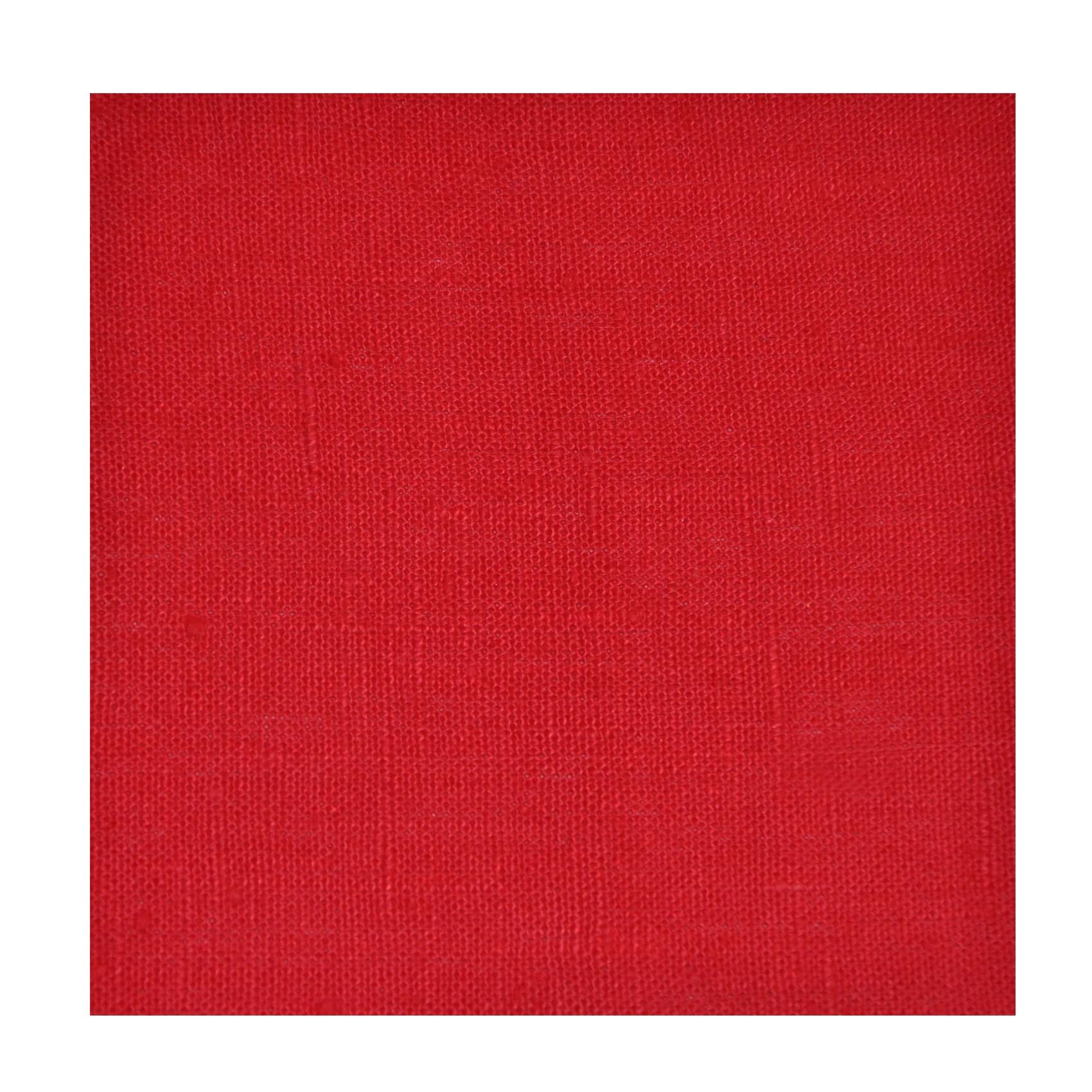 rideau pret a poser en lin rouge thevenon