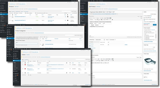 WordPress with WooCommerce Easy to use interface to set up products and shipping, track sales, manage orders and monitor sales reports