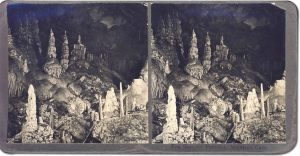 Stereoview of The Gate or Paradise, Morrison Cave, Montana