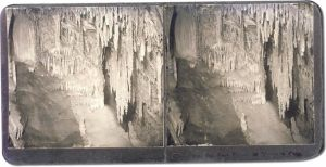 Stereoview of The Altar, 600 Feet Deep in Morrison Cave, Montana