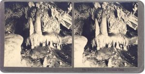 Stereoview of The Giant's Tooth, Morrison Cave, Montana