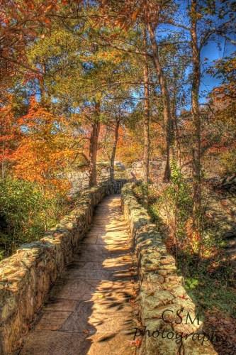 A bridge located inside of Rock City, Photo by Cmstoddard