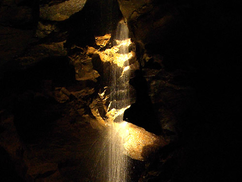 Waterfall in Aillwee Cave - The Underground Burren, Ireland – The Underground World of Caves