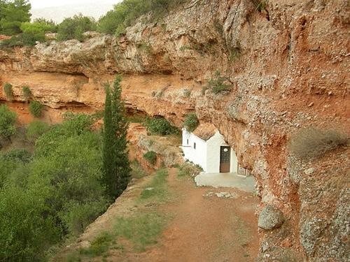Church of San Giorgio built inside the sinkhole located near the village of Didima, Greece Photo by Nicola Quirico