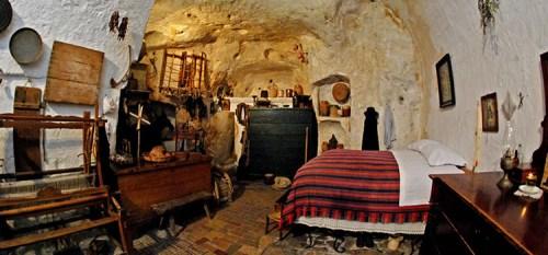 Cave house in Matera, Basilicata, Southern Italy