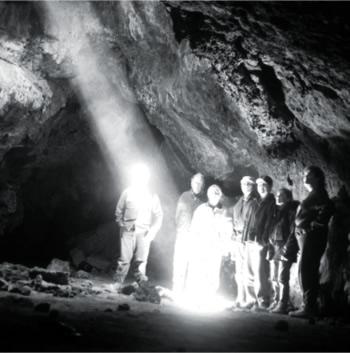 Lava Tube in the Mojave Desert Photo National Park Service