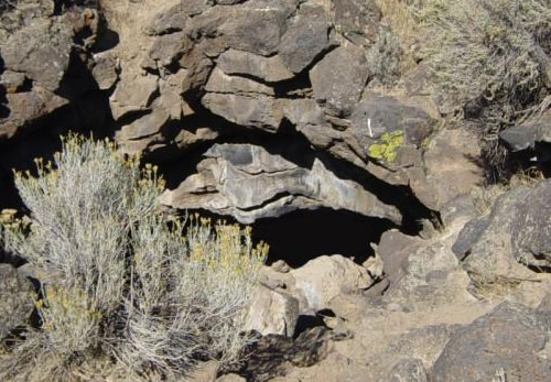 Captain Jack's cave at Captain Jack's Stronghold in Lava Beds Photo by Mav