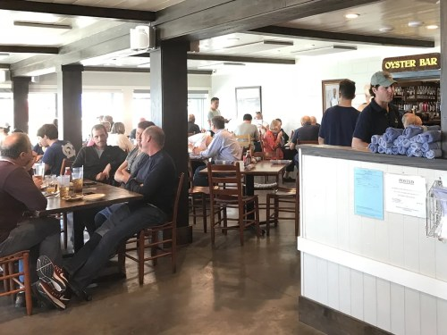 We get to Hudson's early enough to sit near the windows in the air-conditioning. - The World Famous Hudson's Seafood House on the Docks-Hilton Head Island, SC – design42