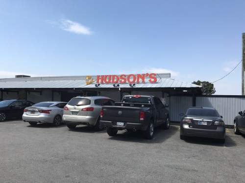 Hudson's Restaurant doesn't look like much from outside. - The World Famous Hudson's Seafood House on the Docks-Hilton Head Island, SC – design42