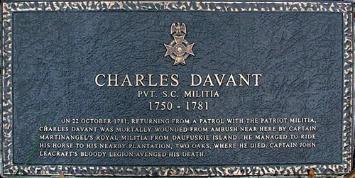 Charles Davant Grave Marker - Zion Chapel of Ease and Cemetery – Hilton Head Island – design42