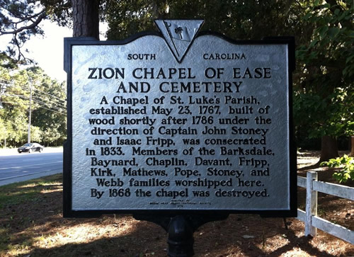 Zion Chapel of Ease and Cemetery Marker - Zion Chapel of Ease and Cemetery – Hilton Head Island – design42