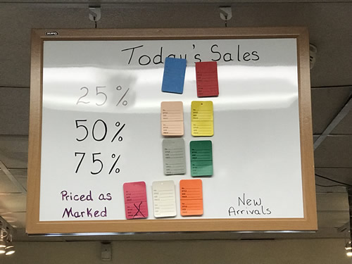 Today's Sales Prices go down as items stay in the store - My Sister's Closet Consignment Store – Hilton Head Island – design42