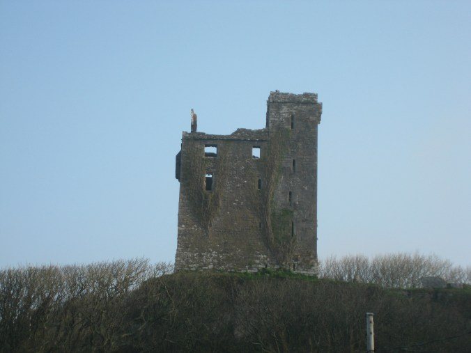 Corbelled, Machicolated Gate on Ballinalacken Castle Tower