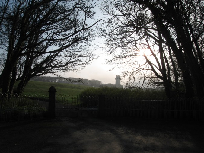 Ballinalacken Castle in the morning mist