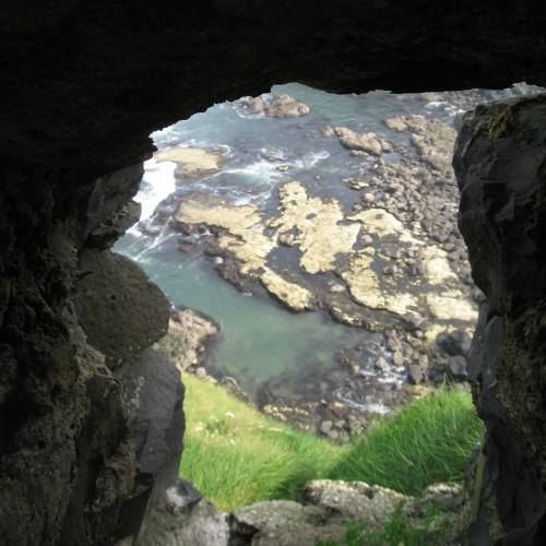 The drop from Dunluce Castle