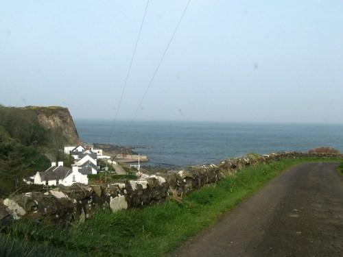 Portbraddon is a tiny hamlet on White Park Bay, on the Antrim Coast
