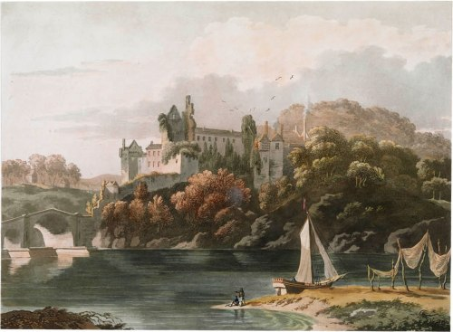 Lismore Castle by T.S. Roberts Aquatint and etching with hand-colouring, December 10, 1795 Printer Samuel Alken