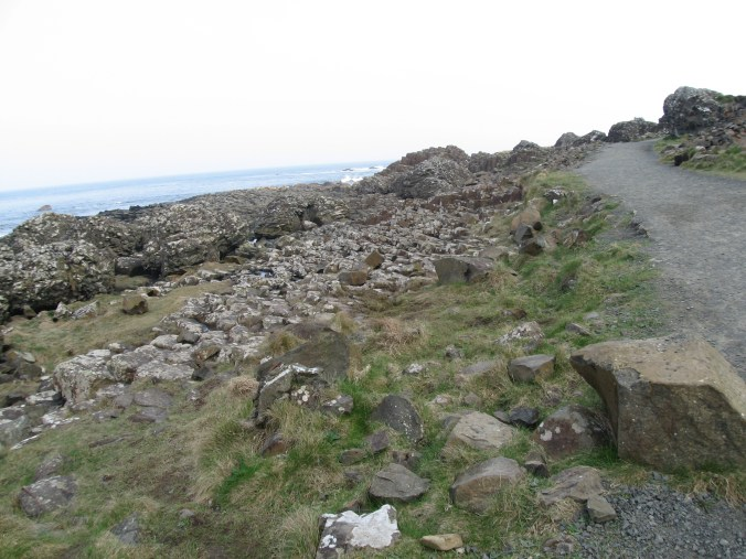 The trail to Giant's Causeway is very easy and level.
