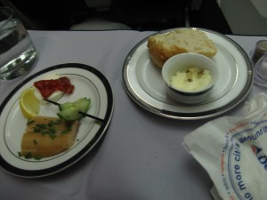 The meal on the flight