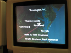 I had my own GPS, so I could see where I was. Delta business class to Ireland