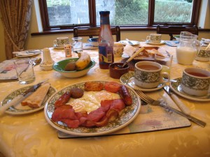 Breakfast at Hollymount House B&B - Cahir, Co. Tipperary, Ireland