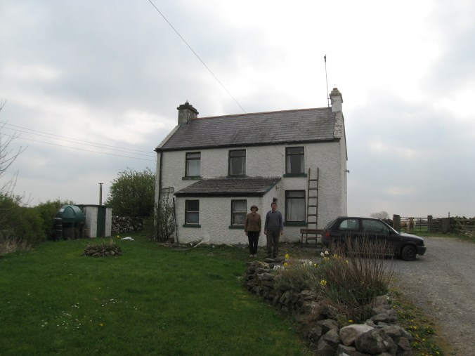 My guide and her brother at his house, near Ardrahan, County Galway