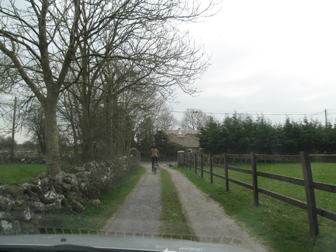 My guide led me to the road to Ardrahan to make sure I did not get lost.