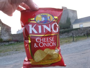 Cheese & Onion Crisps – That's one way to get potatoes.