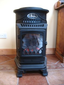 Coal effect gas fire, The Harbour Masters House, Shannon Harbour