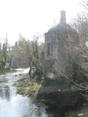 Leixlip Castle Folly, at the meeting of the Rye Water and the River Liffey