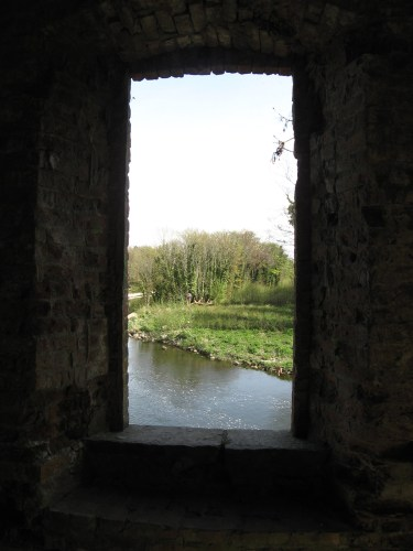 View from the window of Leixlip Castle Folly
