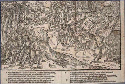 A plate from The Image of Irelande, by John Derrick, published in 1581 - Bagpipes in Ireland - A Different Visit to Ireland